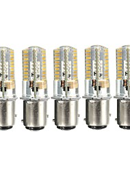 cheap -5pcs 3 W LED Corn Lights 170-200 lm BA15D 72 LED Beads SMD 3014 Decorative Lovely Warm White Cold White 12-24 V