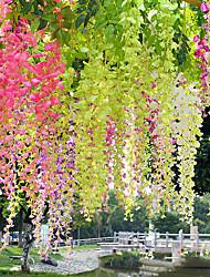 Недорогие -искусственный цветок 12 шт. филиал современный современный вечный цветок стены цветок моделирования глицинии цветочный завод прямой бин цветок на стене свадебные арки украшения цветок свадьба потолок