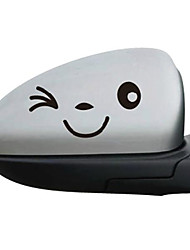 cheap -Funny Smiling Face Reflective Decals Car Stickers Rearview Mirror Car Head Styling Sticker