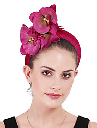 cheap -Polyester / Polyamide Headbands / Fascinators / Flowers with Floral / Flower 1 Party / Evening / Kentucky Derby Headpiece