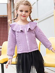 cheap -Kids Girls' Basic Solid Colored Long Sleeve Sweater & Cardigan Purple