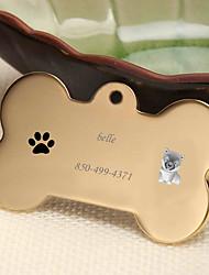 Недорогие -Персонализированные Индивидуальные Чау-чау Теги для домашних животных Классический Подарок Повседневные 1pcs Золотой Серебряный Розовое Золото
