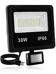 cheap -1pc 30 W LED Floodlight Waterproof / New Design / Motion Detection Monitor Warm White / White 85-265 V Outdoor Lighting / Courtyard / Garden 60 LED Beads