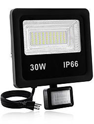 cheap -1pc 30 W LED Floodlight Waterproof / New Design / Motion Detection Monitor Warm White / White 85-265 V Outdoor Lighting / Courtyard / Garden 60 LED Beads