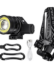 cheap -50000LM T6 COB LED Rechargeable Headlamp Zoomable motocycle Head Light Lamp