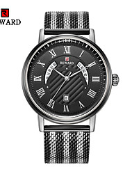 cheap -Men's Dress Watch Quartz Formal Style Modern Style Black / Blue / Silver 30 m Calendar / date / day Creative New Design Analog Casual Fashion - Black White Gold