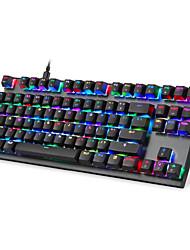 abordables -2019 nouveau clavier de jeu k82 clavier mécanique rgb rétro-éclairage usb câblé 87 touches clavier