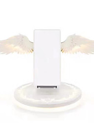cheap -Wireless Charger Angel Wing Night Light Staycation Mobile Phone Wireless Charger for Android Iphone USB Fast Charging 10W