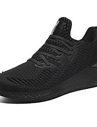 Недорогие -Муж. Комфортная обувь Tissage Volant Наступила зима Спортивные Спортивная обувь Беговая обувь / Для прогулок Дышащий Черный / Черно-белый / Белый