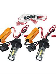 Недорогие -2шт t20 (7440,7443) / ba15s (1156) / bau15s автомобильные лампочки 35 Вт smd 4014 66 светодиодных дневных ходовых огней / указателей поворота / стоп-сигнала для универсальных на все годы