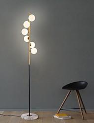 abordables -nordique moderne led boule de verre luminaires debout lampadaire craquer grand éclairage intérieur art spirale simple boule de verre verticale