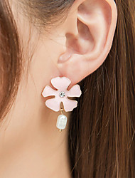 cheap -Women's Drop Earrings Earrings Classic Flower Korean Fashion Cute Elegant Colorful Imitation Pearl Earrings Jewelry Pink For Daily 1 Pair