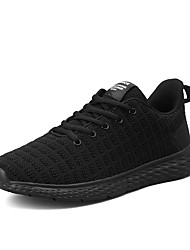 cheap -Men's Light Soles Tissage Volant Spring & Summer Sporty Athletic Shoes Running Shoes Breathable Color Block Black / Black / White / Gray
