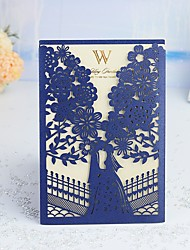 "cheap -Wrap & Pocket Wedding Invitations 30pcs - Thank You Cards / Response Cards / Invitation Sample Artistic Style / Fairytale Theme / Bride & Groom Style Pearl Paper 5""×7 ¼"" (12.7*18.4cm)"