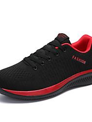 abordables -Homme Printemps / Eté Simple Athlétique De plein air Chaussures d'Athlétisme Course à Pied Tissage Volant Respirable Noir / Rouge / Noir / noir / vert Slogan