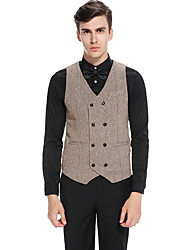 cheap -Polyester Wedding Vests Solid Colored