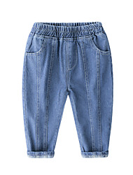 cheap -Kids Boys' Active Basic Solid Colored Jeans Blue