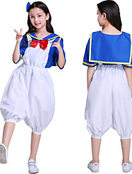 cheap -Sailor / Navy Cosplay Costume Outfits Masquerade Kid's Boys' Cosplay Halloween Halloween Festival / Holiday Cotton Polyster White Carnival Costumes
