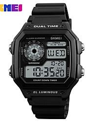 Недорогие -SKMEI Муж. электронные часы Кварцевый силиконовый 30 m Защита от влаги Новый дизайн ЖК экран Аналоговый На открытом воздухе Мода - Черный Зеленый Черный / Синий