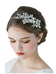 cheap -Alloy Headbands with Pearls / Crystal / Rhinestone / Flower 1 Piece Wedding Headpiece