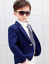 cheap -Kids Boys' Basic Polka Dot Long Sleeve Suit & Blazer Blue