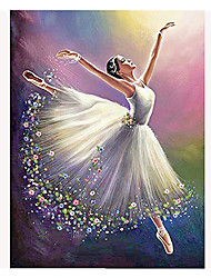 cheap -People Wall Decor Nonwoven / Special Material 3D Print Wall Art, Diamond Painting Decoration