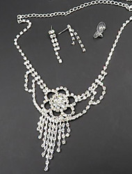 cheap -Women's Jewelry Set Bridal Jewelry Sets Tassel Fringe Precious Fashion Silver Plated Earrings Jewelry Silver For Christmas Wedding Halloween Party Evening Gift 1 set