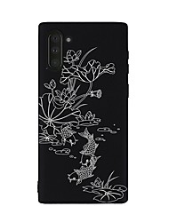 cheap -Case For Samsung Galaxy Galaxy Note 10 / Galaxy Note 10 Plus Shockproof Back Cover Flower TPU
