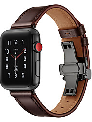 cheap -Smart Watch Band for Apple iWatch 1 pcs Sport Band Genuine Leather Replacement  Wrist Strap for Apple Watch Series SE / 6/5/4/3/2/1 38mm 40mm 42mm 44mm