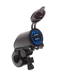 cheap -5V 3.1A Waterproof Motorcycle Dual USB Charger Handlebar mounting clamp for iPhone Samsung and Xiaomi mobile phones