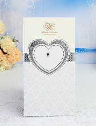 cheap -Wrap & Pocket Wedding Invitations 30pcs - Invitation Cards / Thank You Cards / Response Cards Heart / Modern Style / Fairytale Theme Pearl Paper 21.5*11.5 cm Acrylic Jewels