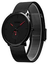 Недорогие -Skmei 9185 кварцевые наручные часы мужчины металлическая сетка из нержавеющей стали водонепроницаемый полный календарь часы