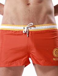 cheap -Men's Swim Shorts Swim Trunks Breathable Terylene Swimwear Beach Wear Bottoms Drawstring Swimming Beach