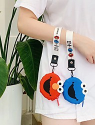 cheap -Girl Hand-held Coin Purse Portable Headphone Bag Storage Bag Cute Cartoon Silicone Lanyard