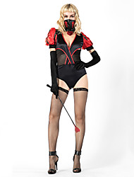 cheap -Magic Women Cosplay Costume Outfits Masquerade Adults' Women's Cosplay Halloween Halloween Festival / Holiday Cotton Polyster Black Women's Carnival Costumes