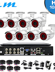 cheap -8CH Shop Monitoring Set AHD 200 Million 10 Inch With Screen Integrated Machine DVR Camera