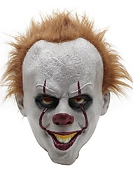 cheap -Latex Halloween Scary Mask Cosplay Clown Party Prop