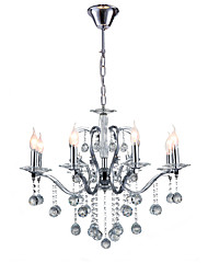 cheap -QINGMING® 75 cm Crystal Chandeliers Candle-style Electroplated Modern Contemporary 110-120V / 220-240V