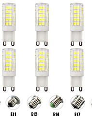 cheap -6pcs 7 W LED Corn Lights LED Bi-pin Lights 700 lm E14 G9 E12 T 64 LED Beads SMD 2835 Dimmable New Design Warm White White 220-240 V 110-120 V