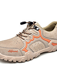 cheap -Men's Leather Shoes Pigskin Spring / Fall & Winter Sporty / Casual Athletic Shoes Hiking Shoes Non-slipping Black / Gray / Khaki
