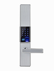 cheap -Slide Fingerprint Password Lock Smart Door Lock Swipe Card Home Password Lock Remote Temporary Key
