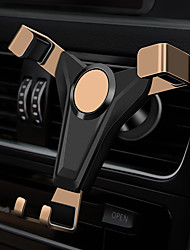 cheap -New car gravity mobile phone holder with skin pattern air outlet mobile phone holder side drop protection buckle