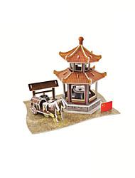 Недорогие -3D пазлы Архитектура Китайская архитектура Пейзаж 3D в мультяшном стиле 1 pcs Дети Все Игрушки Подарок