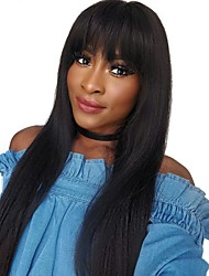 cheap -Synthetic Wig Natural Straight Layered Haircut Wig Very Long Natural Black Synthetic Hair 68~72 inch Women's New Arrival Black