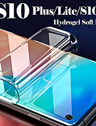 cheap -protective film on galaxy s10 light plus lite s10e soft hydrogel screen protector for samsung s 10 10s full cover (not glass)