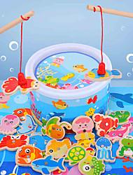 Недорогие -Магнитные игрушки Обучающая игрушка Дельфин Рыбки Осьминог Shark Животный принт Дерево