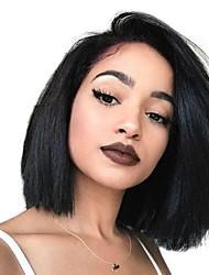 cheap -Human Hair Full Lace Wig Pixie Cut Side Part style Brazilian Hair Straight Black Wig 130% Density Women Women's Long Human Hair Lace Wig Clytie