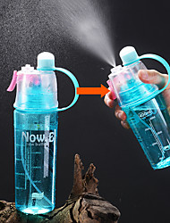 cheap -Water Bottle Spray Sports Water Bottle 400 ml Food Grade Material Portable Durable for Camping / Hiking Outdoor Exercise Camping / Hiking / Caving 1 pcs Black Green Red Blue