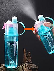 Недорогие -Бутылка для воды Spray Sports Water Bottle 400 ml Пищевые материалы Портативные Прочный для Отдых и Туризм На открытом воздухе Походы / туризм / спелеология 1 pcs Черный Зеленый Красный Синий