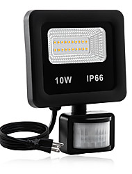 cheap -1pc 10 W LED Floodlight Waterproof / New Design / Motion Detection Monitor Warm White / White 85-265 V Courtyard / Garden 20 LED Beads